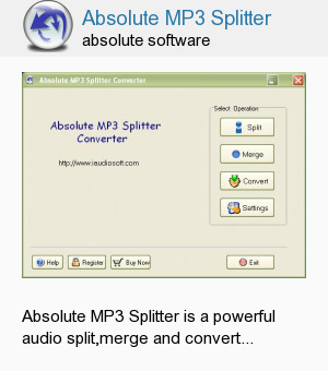 Absolute MP3 Splitter