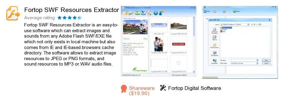 Fortop SWF Resources Extractor
