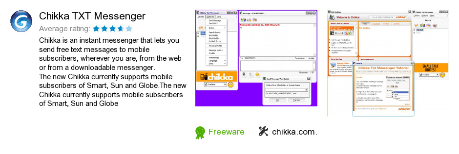 It s quick and easy to send free sms with Chikka Messenger