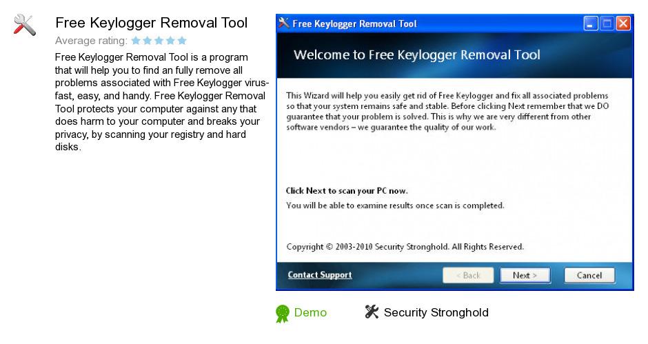 Free Keylogger Removal Tool