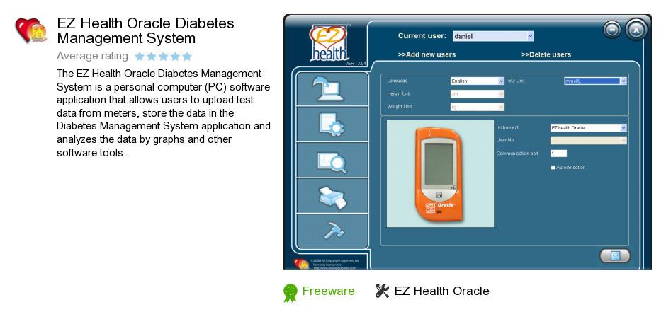 EZ Health Oracle Diabetes Management System