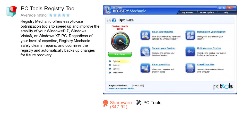 PC Tools Registry Tool