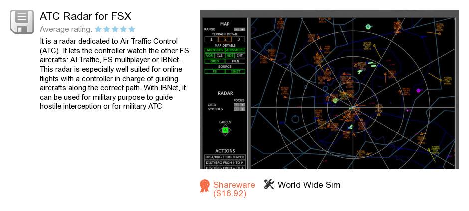 ATC Radar for FSX