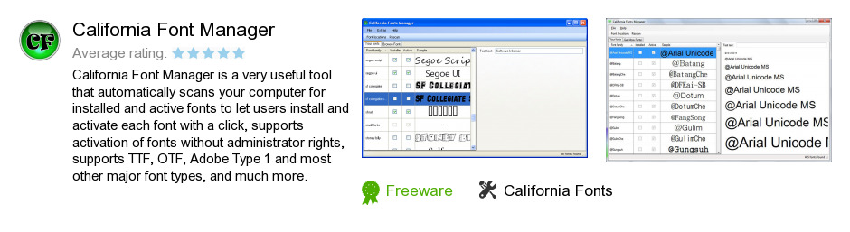 California Font Manager