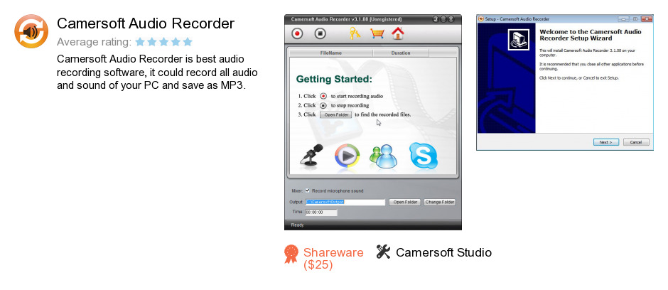 Camersoft Audio Recorder