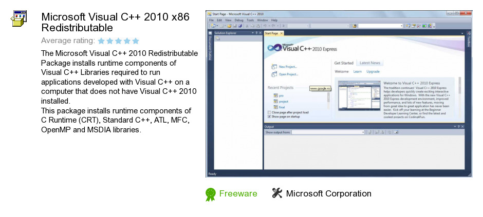 Microsoft Visual C++ 2010 x86 Redistributable