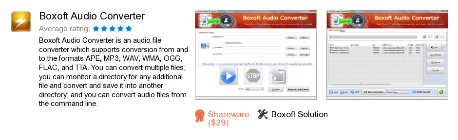 Boxoft Audio Converter