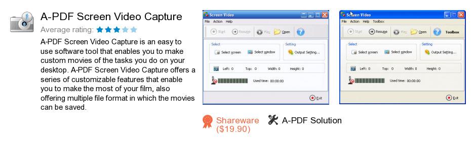 A-PDF Screen Video Capture