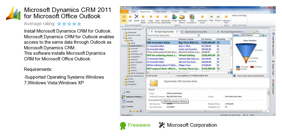 Microsoft Dynamics CRM 2011 for Microsoft Office Outlook