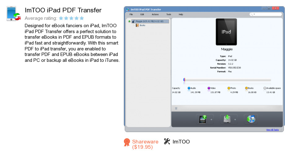 ImTOO iPad PDF Transfer