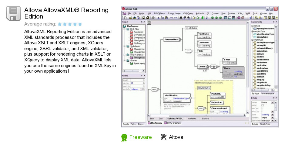 Altova AltovaXML® Reporting Edition