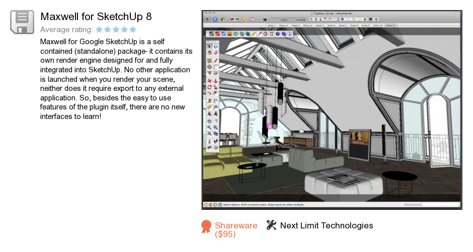 Maxwell for SketchUp 8