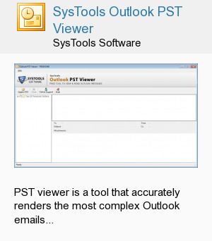 SysTools Outlook PST Viewer