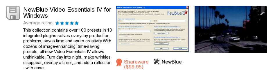 NewBlue Video Essentials IV for Windows