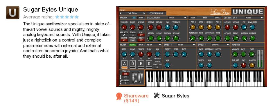 Sugar Bytes Unique