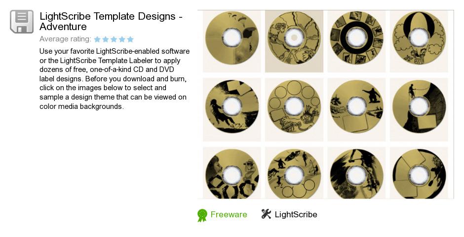 Free Lightscribe Template Designs Adventure Download 0