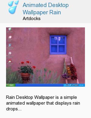 Animated Desktop Wallpaper Rain