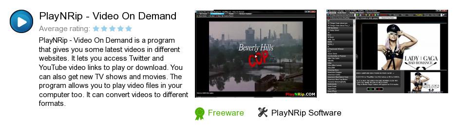 PlayNRip - Video On Demand
