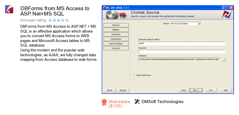 DBForms from MS Access to ASP.Net+MS SQL
