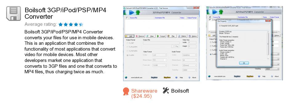 Boilsoft 3GP/iPod/PSP/MP4 Converter