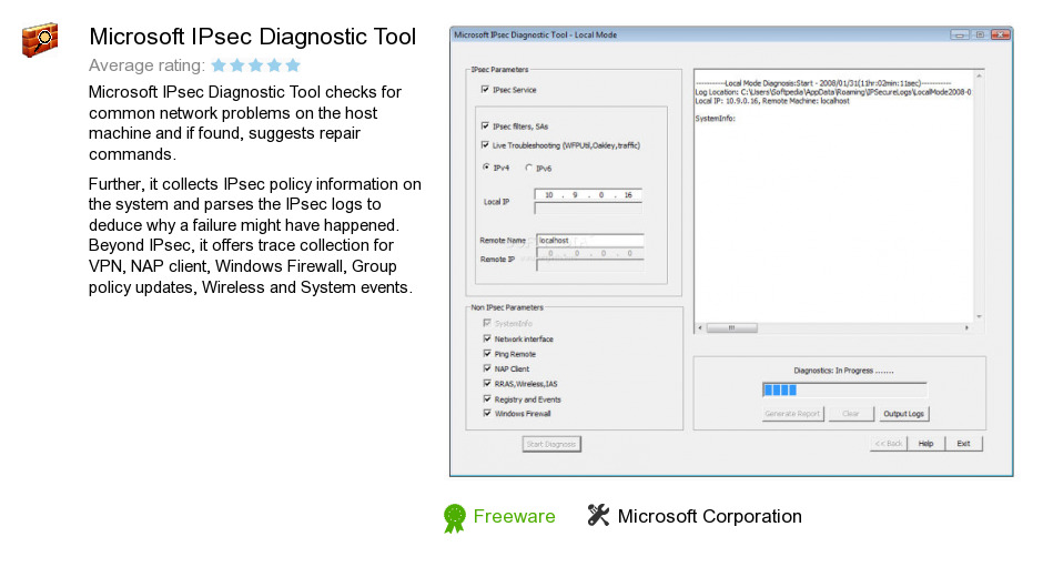 Microsoft IPsec Diagnostic Tool