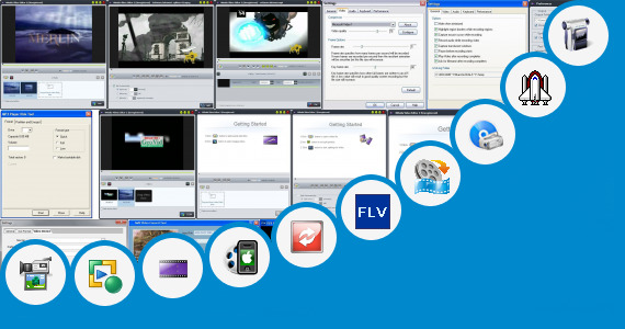 Software collection for 240 400 Screen Size Video