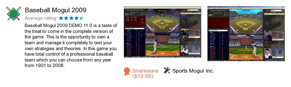 Baseball Mogul 2009