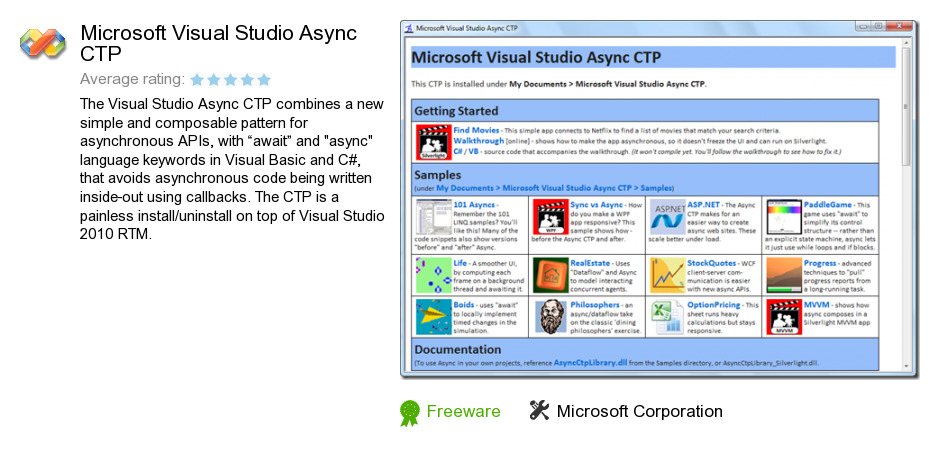 Microsoft Visual Studio Async CTP
