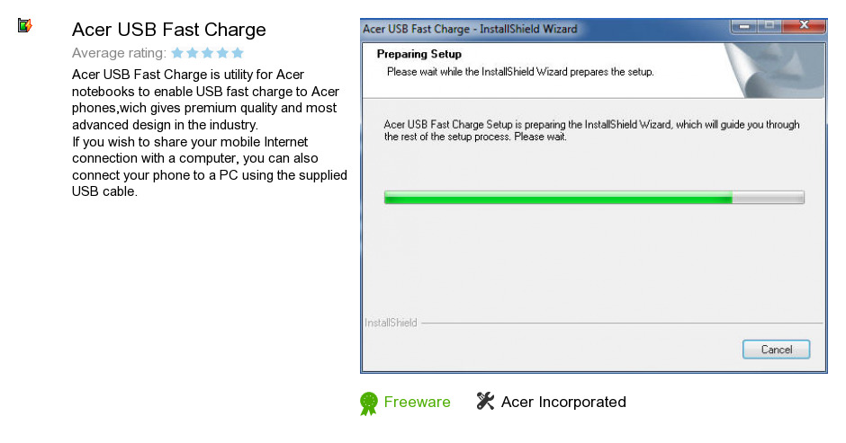 Acer USB Fast Charge