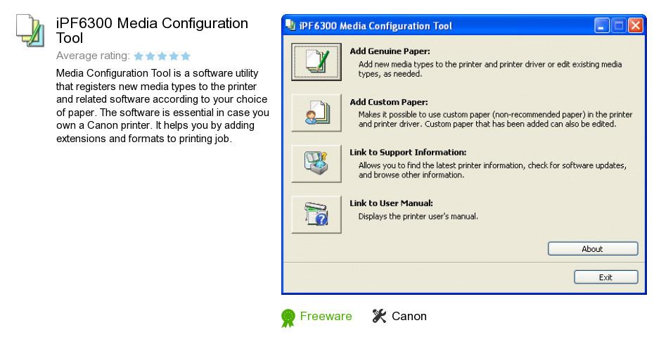 IPF6300 Media Configuration Tool