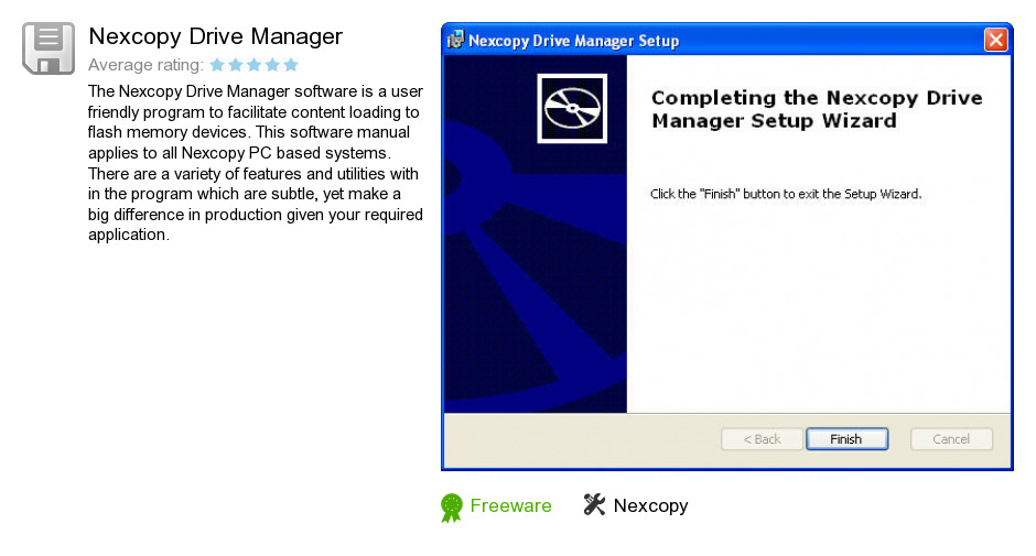 Nexcopy Drive Manager