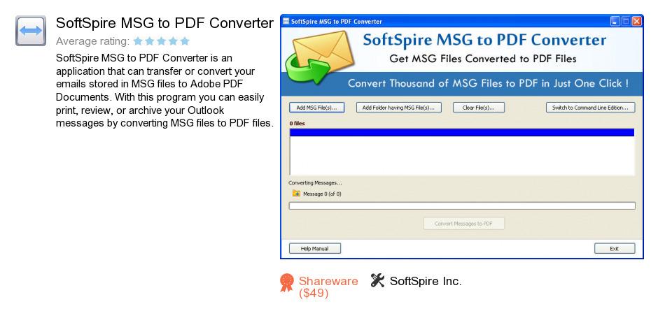 SoftSpire MSG to PDF Converter