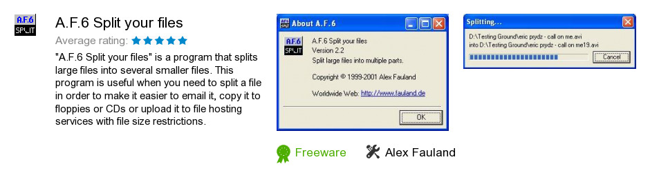 A.F.6 Split your files