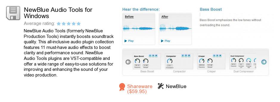 NewBlue Audio Tools for Windows