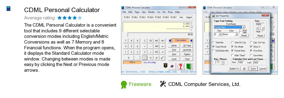 CDML Personal Calculator