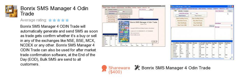 Bonrix SMS Manager 4 Odin Trade