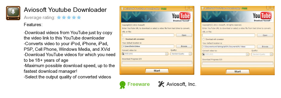 Aviosoft Youtube Downloader