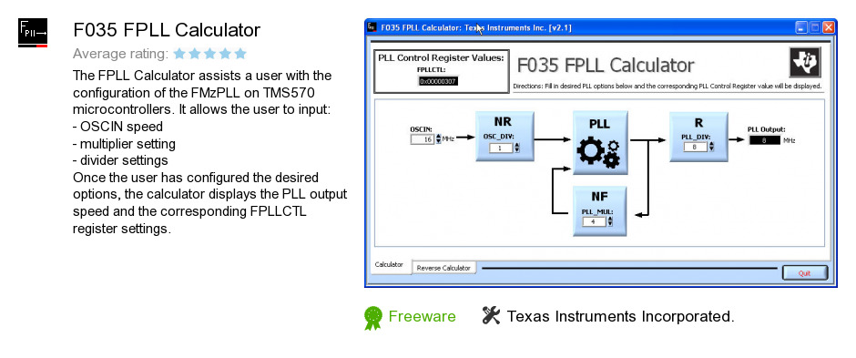 F035 FPLL Calculator