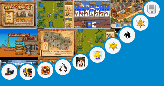 Software collection for Wild West Trains Game