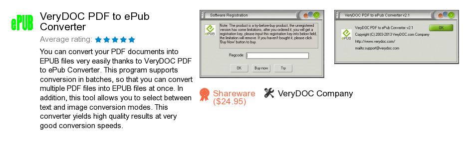VeryDOC PDF to ePub Converter