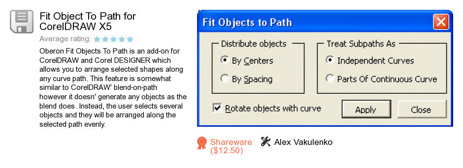 Fit Object To Path for CorelDRAW X5