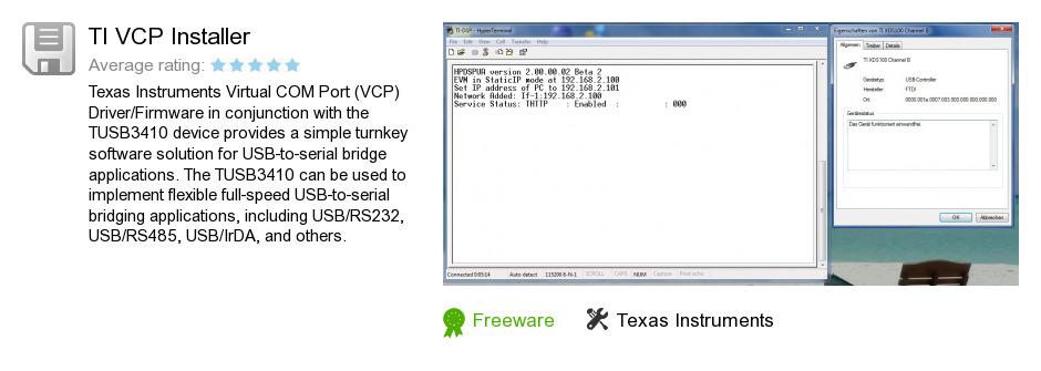 TI VCP Installer