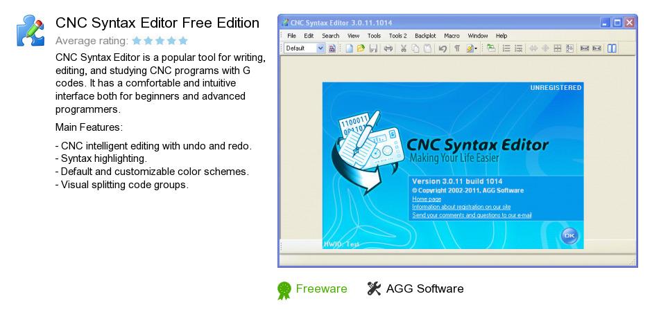 CNC Syntax Editor Free Edition