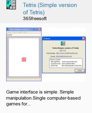 Tetris (Simple version of Tetris)