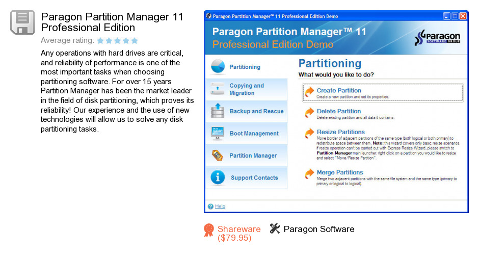 Paragon Partition Manager 11 10.0.17.13146 Personal Special Portable.