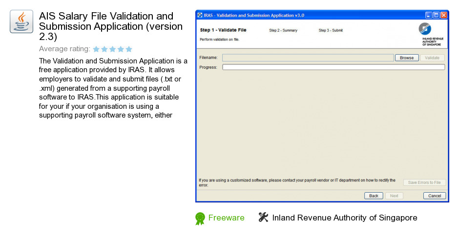AIS Salary File Validation and Submission Application (version 2.3)