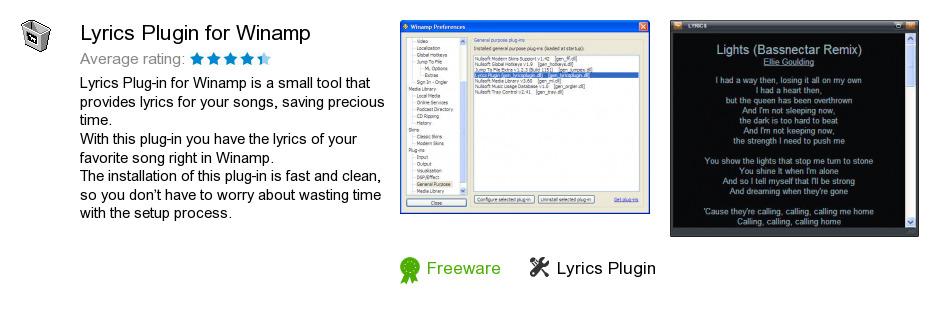 Lyrics Plugin for Winamp