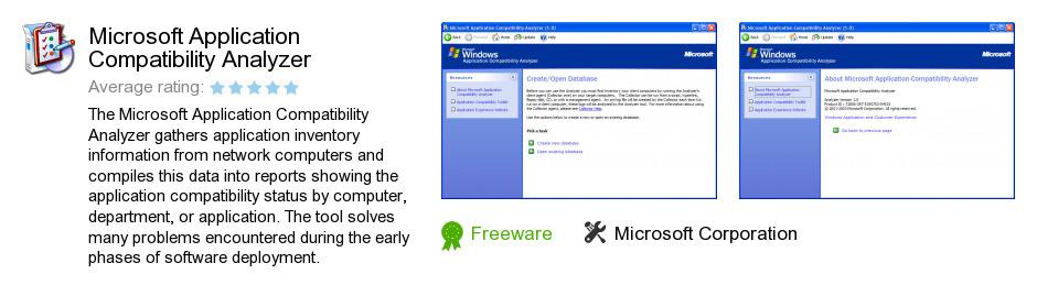 Microsoft Application Compatibility Analyzer