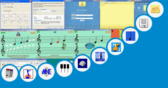 Software collection for Keyboard Notes For Po Nee Po