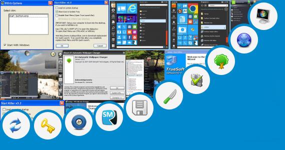 Software collection for Vista Start Button Changer